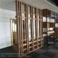 北京铝方通型材窗花_隔断铝型材窗花屏风